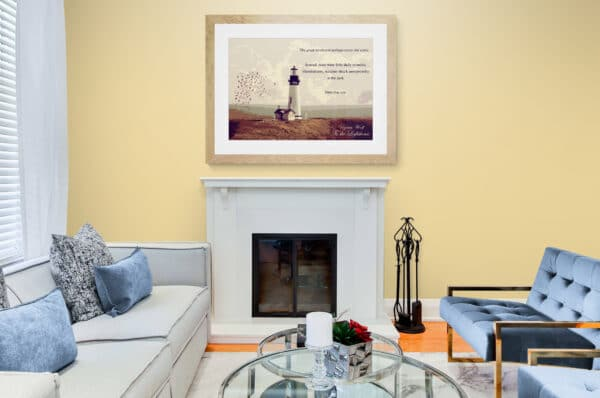 To the Lighthouse Print Lifestyle Shot 1