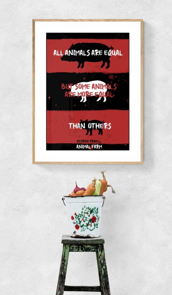 Animal Farm Art Print Lifestyle Shot 2