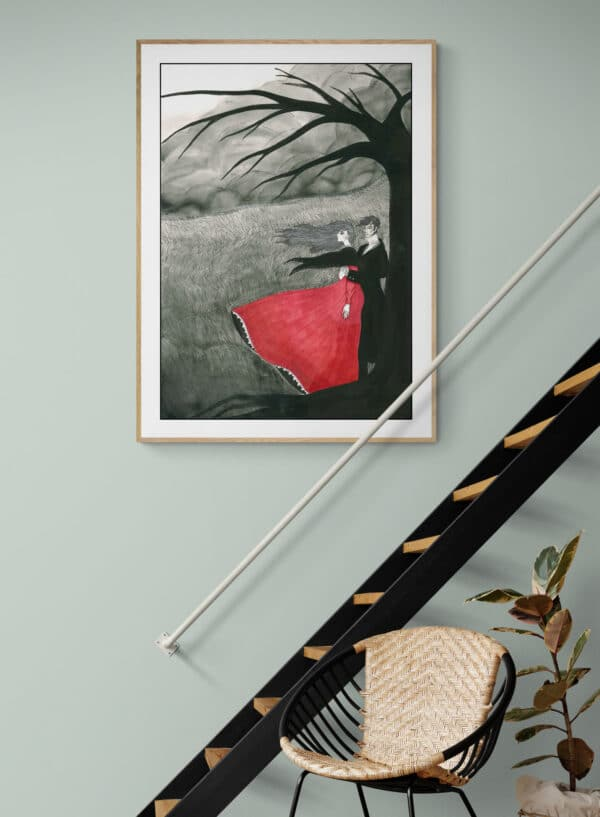 Wuthering Heights Art Print Lifestyle Shot 1