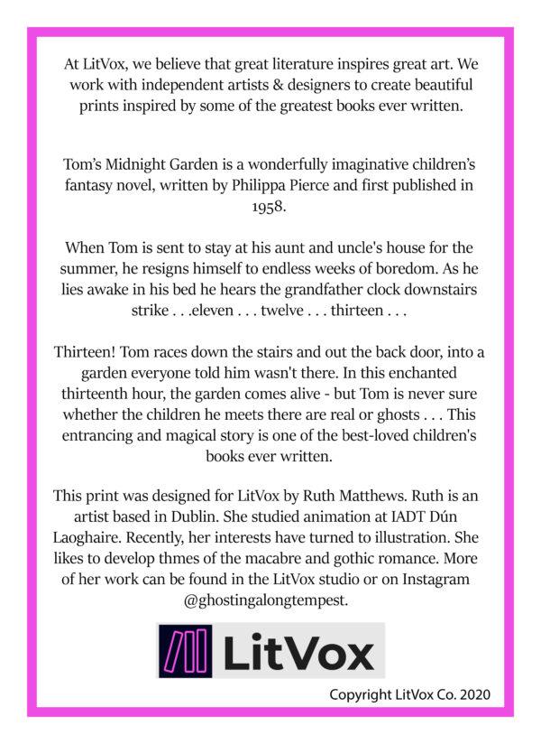 Tom's Midnight Garden Print Back