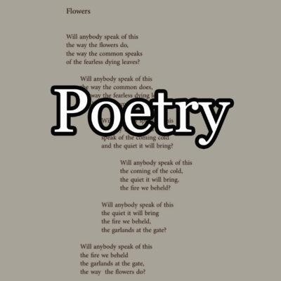 Poetry, Essays & Criticism