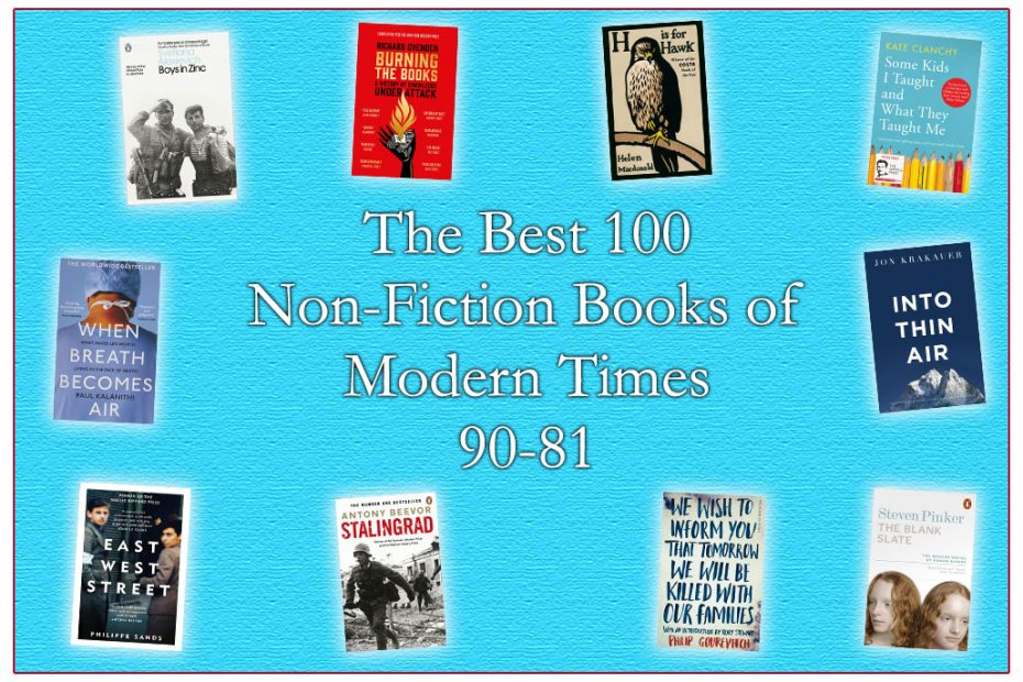 The Best 100 Non-Fiction Books of Modern Times (No's) 90-81